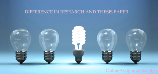 DIFFERENCE IN RESEARCH AND THESIS PAPER